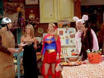 AMIGOS - amigos de la serie de televisión Monica Chandler Phoebe Ross Rachel Joey. Lisa Kudrow y col. de pie