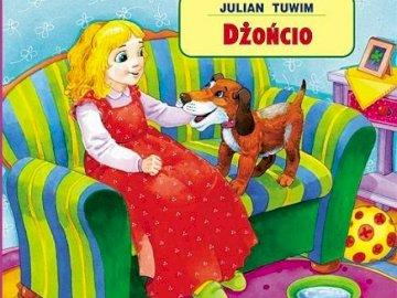 "Dżoncio1 - Compose puzzles related to Julian Tuwim's poem ""Dżoncio"". A person wearin"