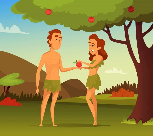 Ádám és Éva - Kirakós játék gyerekeknek Ádám és Éva körül (5×5)