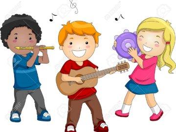 puzzle d'orchestre - Puzzles pour enfants. Leçons de musique.