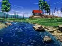house_river_stones_