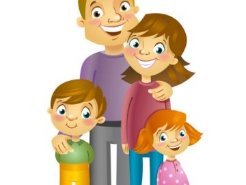 Puzzle family - Puzzle for children about my family.