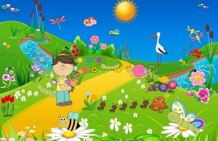 Puzzle Piękna Łąka - Piękna łąka. Warto spróbować ułożyć puzzle. Zakończenie up kolorowy tło (5×5)