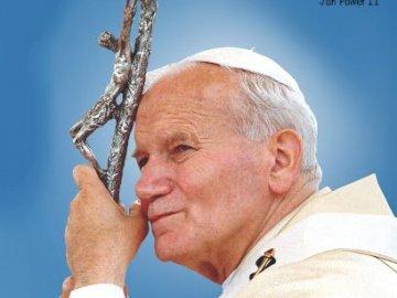 Papa Juan Pablo II - Juan Pablo II - cita. Papa Juan Pablo II con un micrófono.