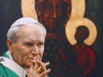 Jan Paweł II z Matką Bożą Częstochowską - Nasz papież z Matką Bożą Częstochowskaą.