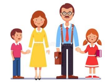 Famille heureuse - Puzzles pour enfants d'âge préscolaire. Un gros plan d'un jouet.