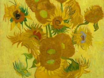 Sunflowers - Famous work by Van Gogh.