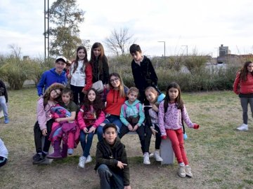 Guiborim 2019 - Guiborim in the day of the child. A group of people posing for the camera.