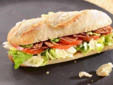 Sándwich de Jamón y Queso - Un sándwich que te da hambre. Si tienes hambre después de colocar el rompecabezas, corre a la coci