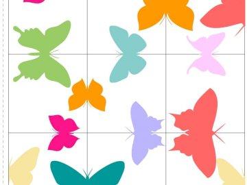 papillons de printemps - puzzle logique pour les enfants - papillons.