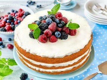 Pastel con fruta - Pastel con fruta anima a comer. Escribe en el comentario cuáles son los próximos acertijos que qui