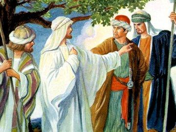 Gesù manda gli apostoli - Gesù manda gli apostoli a predicare il Vangelo. Posto!. Un gruppo di persone che indossano costumi.