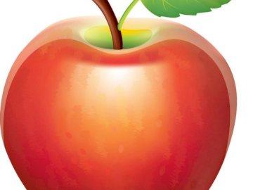 Manzana roja - Organiza la imagen de la manzana en un todo.