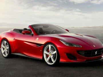 Ferari vermelho - Czerwone Ferari - um carro lendário em que todos gostariam de entrar. No comentário, por favor, su