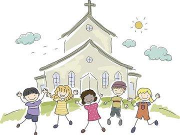 Wielka rodzina Kościoła - Rysunek przedstawia wielką rodzinę chrześcijan.