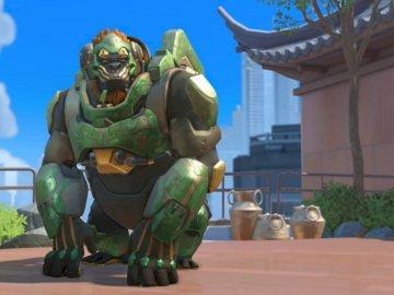 Winston année du rat - La peau de Winston de l'année du rat. Une statue d'une personne.