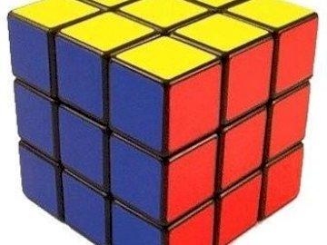 Plezier met de kubus - Schik de puzzels en je ziet iets waar je plezier aan kunt beleven. Een close up van een apparaat.