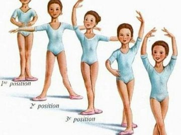 Pozycje baletowe - Pozycje baletowe. Osoba pozuje do zdjęcia.