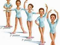 Ballet positions - Ballet positions. A person posing for a picture.
