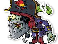pirate zombie - form the zombie image. A drawing of a cartoon character.