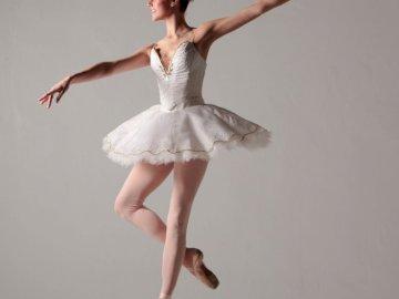 Ballet dancer - Classical Ballet Dancer. A woman jumping in the air.