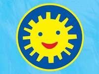 ordre du sourire - Ordre du sourire pour les enfants d'âge préscolaire. Un signe bleu et blanc.