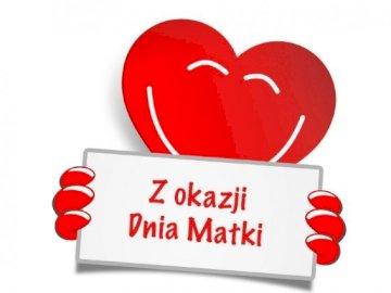 Serce dla mamy - Puzzle serce z dedykacją dla mamy z okazji Dnia Matki.