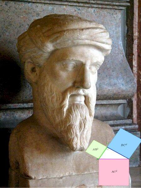 Pitágoras - Este rompecabezas permite reconstruir el busto de Pitágoras.
