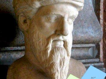 Pitagoras - Ta łamigłówka pozwala zrekonstruować popiersie Pitagorasa.