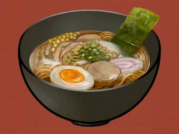 Ramen delicioso - Sopa de ramen con huevo.