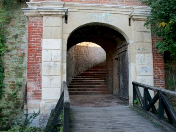 Gate to the castle - Entrance gate to the castle.