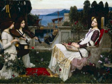 Saint Cecilia (1895) - Saint Cecilia, John William Waterhouse (1895).