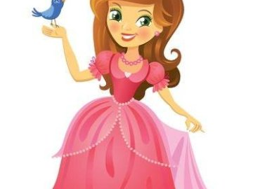 Princess - Puzzle depicting the princess. For younger children. A drawing of a cartoon character.