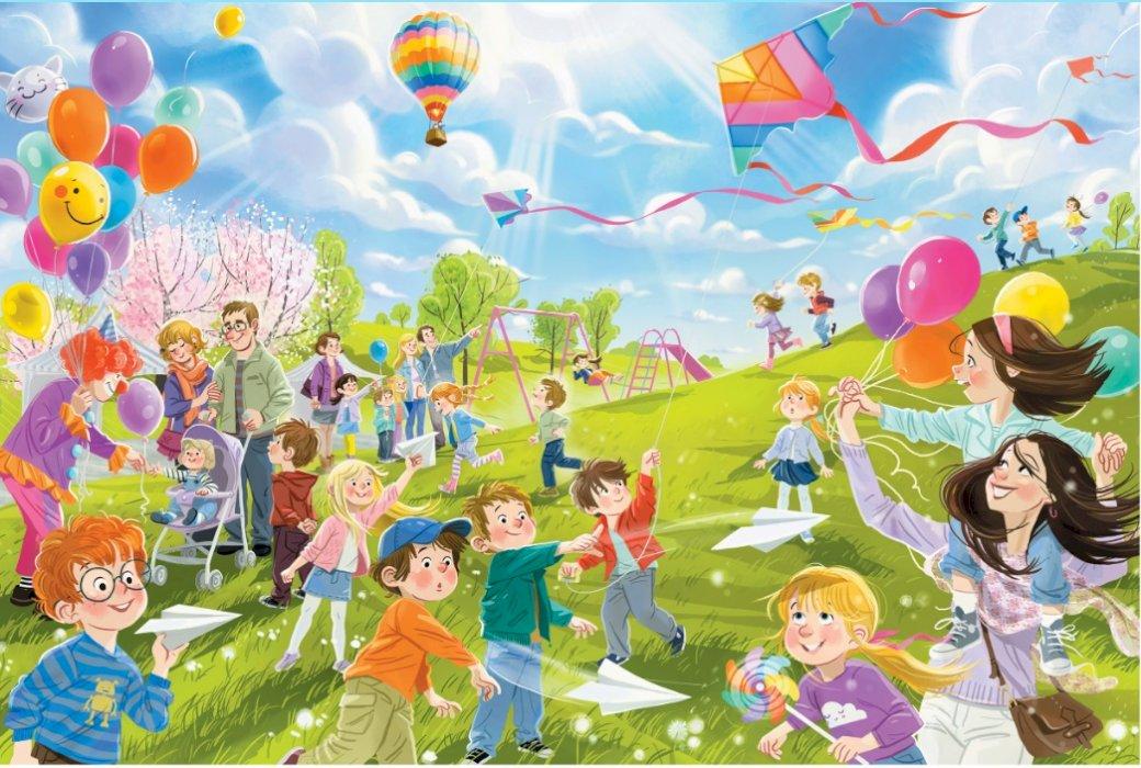 Baloane și zmei - Indicați în ilustrație toate obiectele care plutesc în aer (7×6)