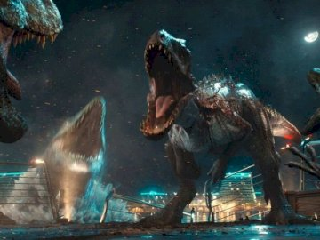 Sentirse azul - Jurassic World siente escena azul.