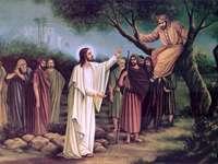 Zaqueo y Jesús - Expiación - Zaqueo y Jesús. Un grupo de personas posando para una foto.