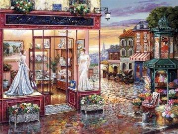 Tienda de ropa - Tienda de ropa y vistas. Sklep pełen mebli.