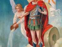 Saint Florian - Saint Florian, patron of firemen and steel workers. A painting of a person.