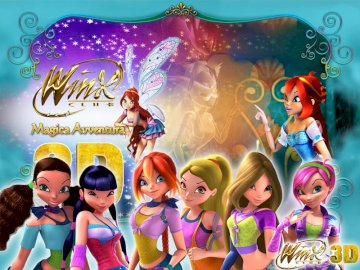 Winx the movie - the winx movie. the puzzle is in 3 d. it is the second movie. A group of children posing for the cam