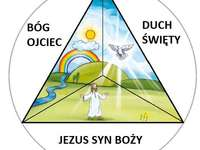 Holy Trinity - Arrange the puzzles that you will also find in the manual. A close up of text on a white background.