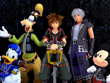 Kingdom Hearts 3 Wallpaper - Kingdom Hearts 3 characters and wallpaper. A person standing next to a toy doll.