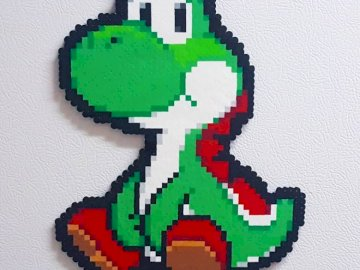yoshi friend - is the faithful friend of mario from super mario. A close up of a logo.
