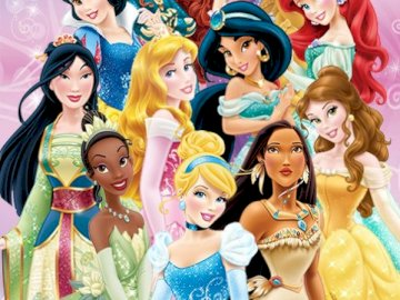 Disney Princesses - Disney Princess Picture. A group of women posing for a photo.