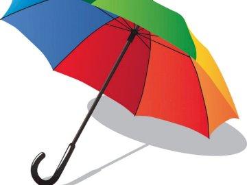 Parasol - Dzieci kompletne puzzle. Zamknięty parasol.