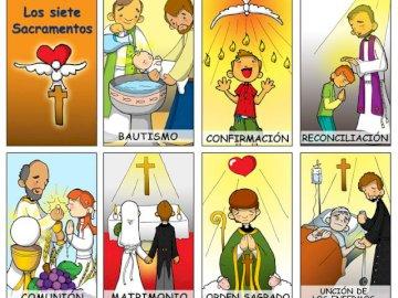 I 7 sacramenti - Puzzle dei 7 Sacramenti. Uno screenshot di un videogioco.