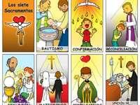 7 sakramentów - Puzzle z 7 sakramentów. Zrzut ekranu z gry wideo.