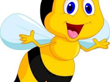 Pszczoła-układanka - Ułóż puzzle. Co przedstawia obrazek?.