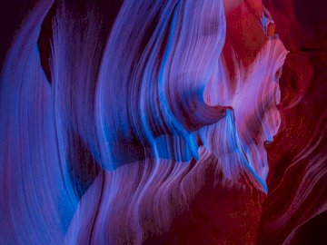Incredibile propria foto da - Pittura astratta rossa e blu.