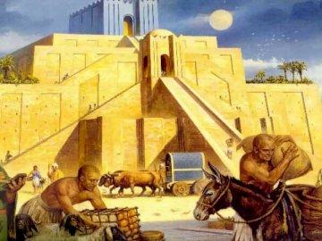 Ziggourat d'Ur - Une reconstruction de la Ziggourat d'Ur.