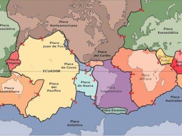 TECTONIC PLATES - SOCIAL SCIENCES SIXTH GRADE. A close up of a map.